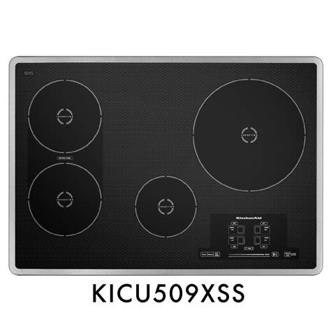 kitchenaid induction technology kitchenaid kicu509xss 30 quot induction cooktop with 4 elements bridge element