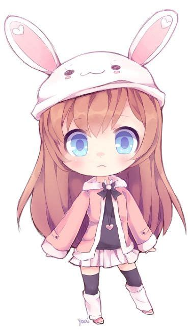 chibi girls 2 a bunny miscellaneous anime art bunny chibi and girls