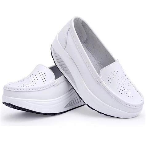 comfort shoes for nurses women genuine leather shoes female wholesale flats shoes