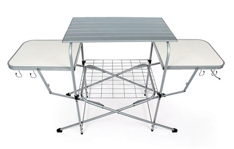 Outdoor Cooking Table by Portable Deluxe Folding Grilling Outdoor Cooking Table