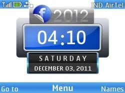 facebook themes mobile phones download free facebook 2012 clock s40 mobile phone theme