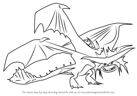 cloudjumper dragon coloring page step by step how to draw cloudjumper from how to train