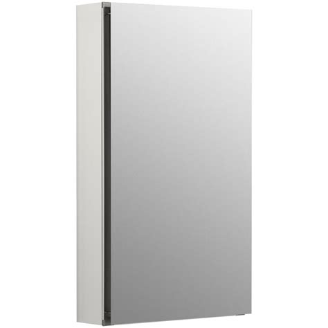 kohler surface mount medicine cabinet kohler flat edge 15 in x 26 in recessed or surface mount