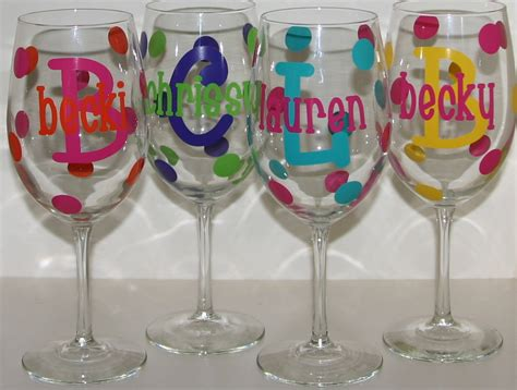 large personalized wine glass