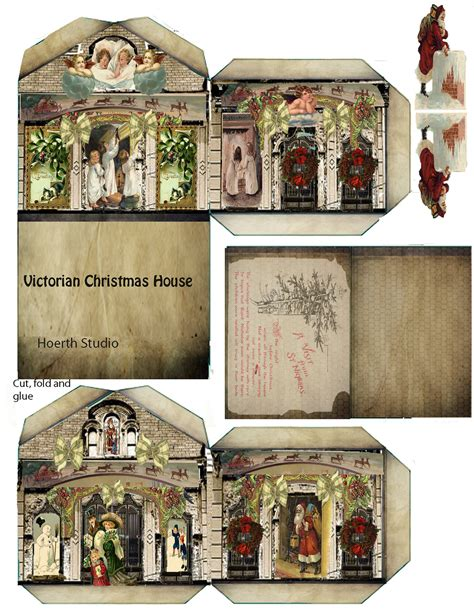 printable paper christmas houses forget me knots victorian christmas paper house