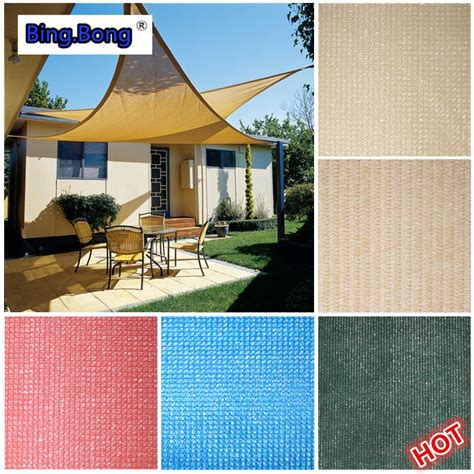 custom sun shade sail outdoor uv waterproof hdpe triangles