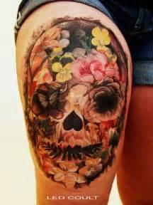 sugar skull female tattoofemale tattoos gallery