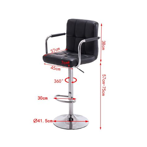 Bar Stool Footrest Height modern bar stool counter chair kitchen footrest height
