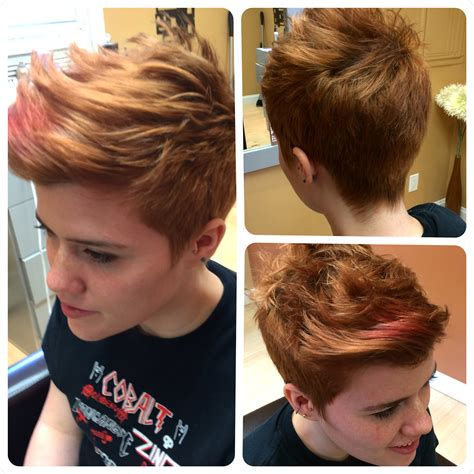 short in back and a little longer in front pixie i did this cut for rae she has short back and sides with