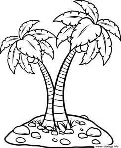 coloriage palmier facile jecolorie com