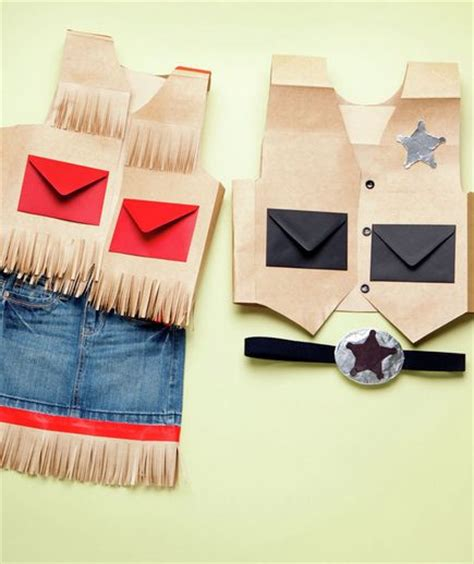How To Make A Paper Bag Vest - simple costumes for the family simple