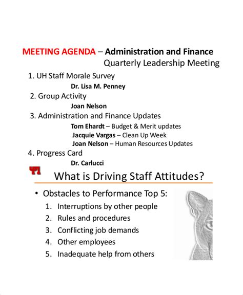 staff meeting agenda 9 staff meeting agenda templates free sle exle