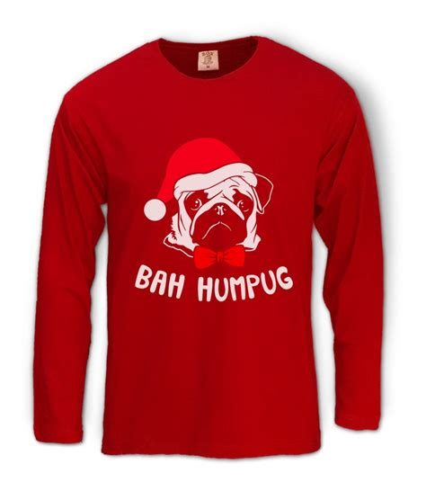 Channel Cocaine Big Size White Tshirt bah humpug pug sleeve t shirt pug