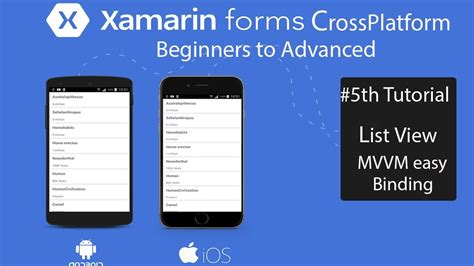 xamarin forms tutorial youtube xamarin forms listview easyway tutorial 5 youtube
