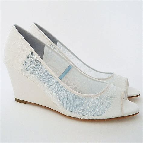 Lace Wedge Bridal Shoes by Wedding Shoes New Designer Bridal Shoes For 2016