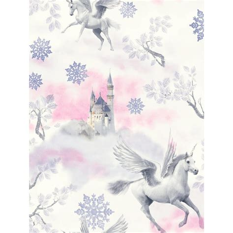 Pony Nursery Bedding by Fairytale Unicorn Wallpaper Lilac Arthouse 667801