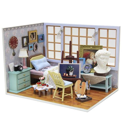 Handmade Dolls House Miniatures - cuteroom diy doll house miniature wooden handmade model