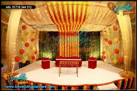 Holud Stage Decor   BD Event Management & Wedding Planners