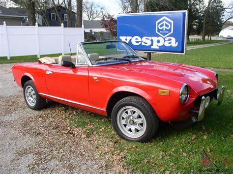1980 fiat spider convertible 1980 fiat 124 spider convertible 2 door 2 0l