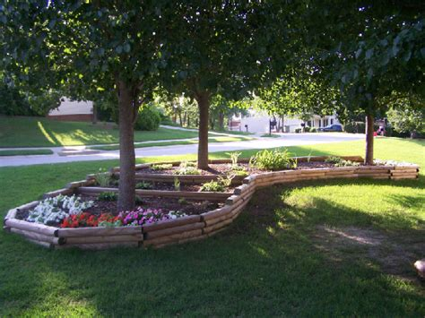 Landscape Timbers Designs Easy Steps To Install Landscape Timbers