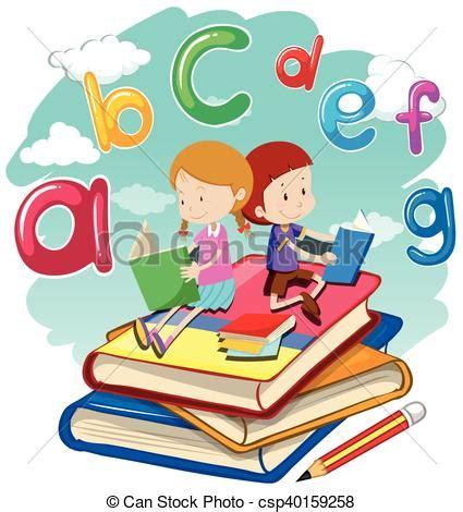 clipart libri bambini libri due insieme lettura bambini due