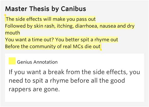 master thesis canibus the side effects will make you pass out master thesis