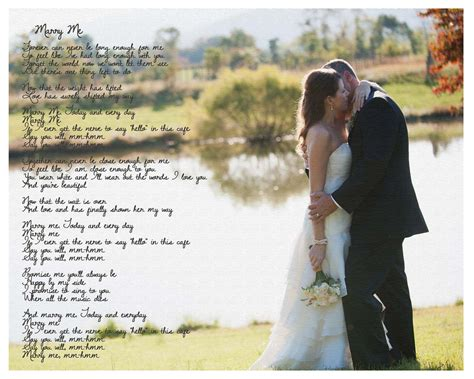 Wedding Song With by 11x14 Song Photo Print Canvas Paper Print