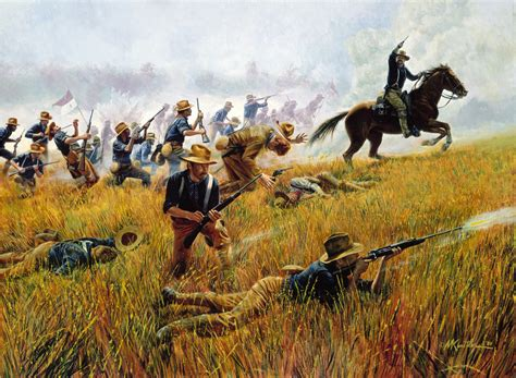 the battle for spain the rough riders by mort kunstler kettle hill santiago