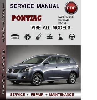 old car owners manuals 2008 pontiac vibe electronic toll collection pontiac vibe service repair manual download info service manuals