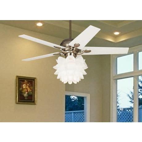 52 quot casa optima white flower ceiling fan