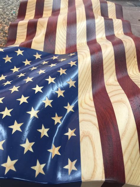 unframed  glory waves  grain american flag