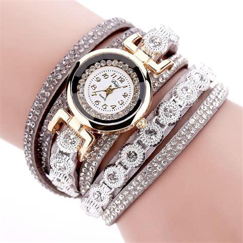 Jam Tangan Wanita Model Gelang Rhinestone Dy038 Black jam tangan wanita model gelang rhinestone dy038 white jakartanotebook