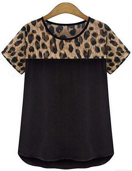 Binder 20ring Hello Leopard leopard v neck sleeves t shirt from hello styles clothes