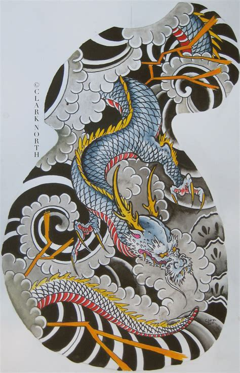 Dragon Tattoo North Battleford | japanese dragon half sleeve by clark north sleeves
