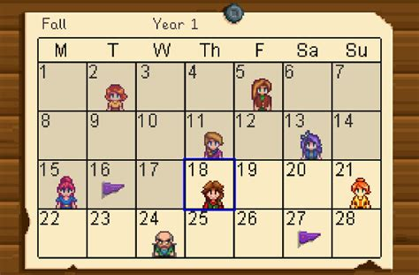 earthquake stardew retrovolve stardew valley calendar of important dates