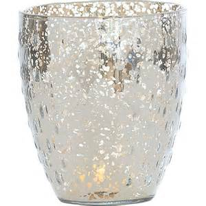 silver mercury glass vase drop motif