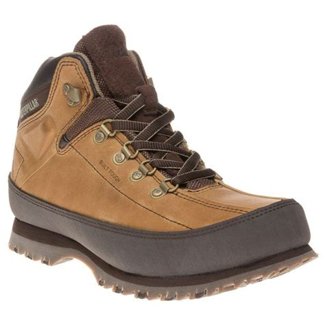 new mens caterpillar brown restore leather boots work lace
