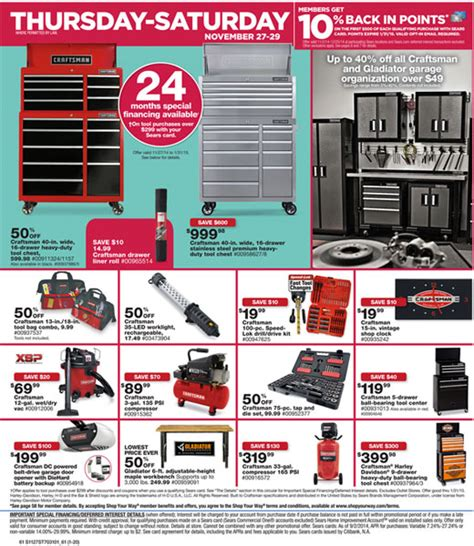 Sears Craftsman Black Friday 2014 Tool Deals