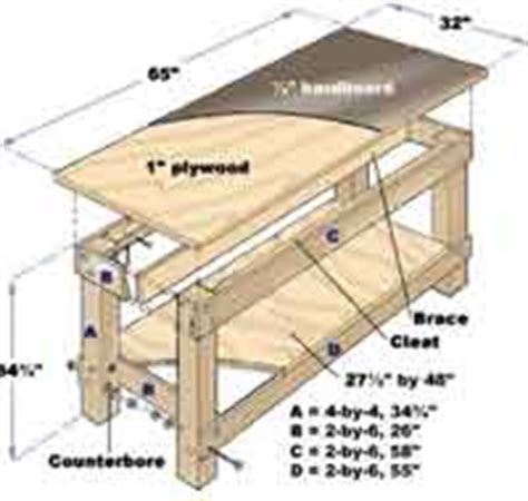bench patterns woodworking plans over 50 free workbench woodcraft plans at allcrafts net