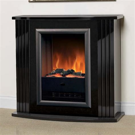 Electric Black Fireplace by Luxury Dimplex Mozart Gloss Black Optiflame Electric
