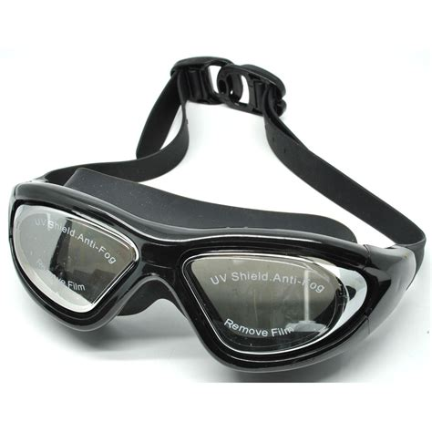 ruihe kacamata renang big frame anti fog uv protection rh9110 black jakartanotebook