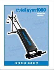 Total Gym 1500 Exercise System Owner S Manual Ebay