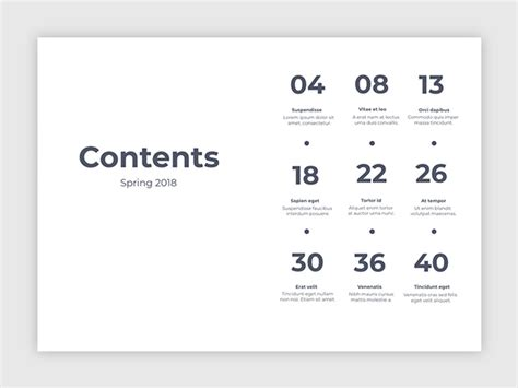 Creative Table Of Contents Template