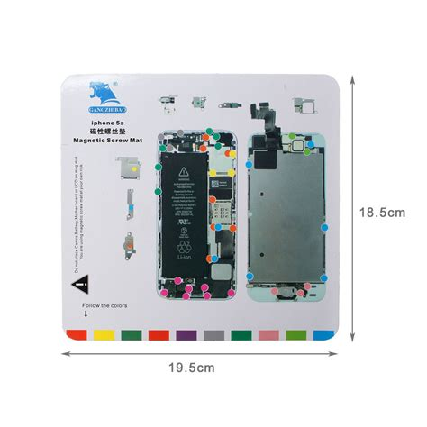screw layout iphone 5s for iphone 6s 6 plus 6 5s 5 4s 4 screw magnetic chart mat