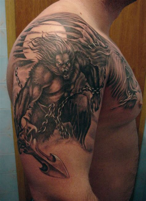 werewolf tribal tattoo tattoos designs ideas and meaning tattoos for you