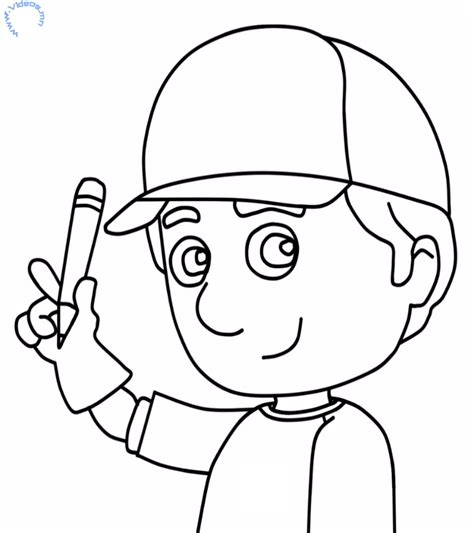 handy manny coloring page az coloring pages