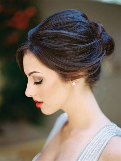 edgy dramatic hairstyles edgy modern wedding in blood orange and onyx updo woman