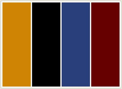 color combination for black red black medium blue and mustard yellow color scheme
