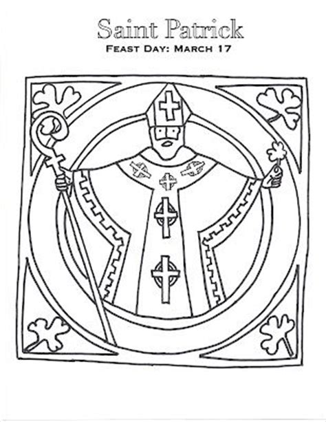 St Patrick Coloring Page Isn T It Adorable Saint St Coloring Pages Religious