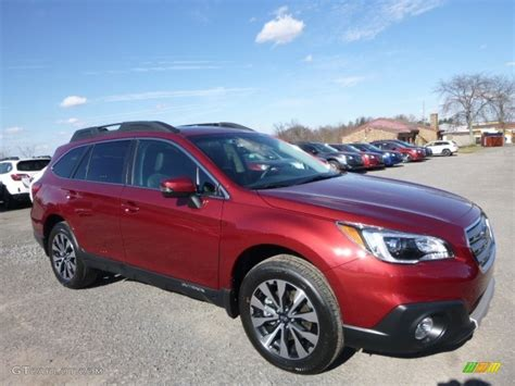 red subaru outback 2017 2017 venetian red pearl subaru outback 2 5i limited